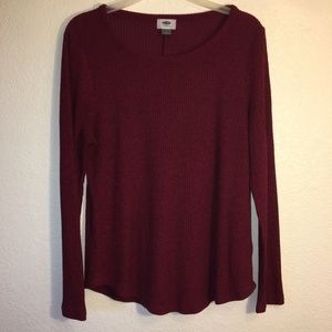 Old Navy burgundy long sleeve fleece too.